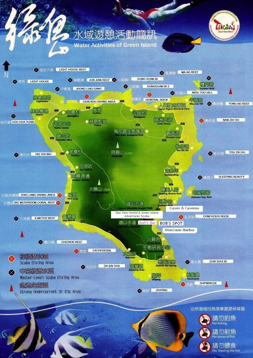 greenisland diving map