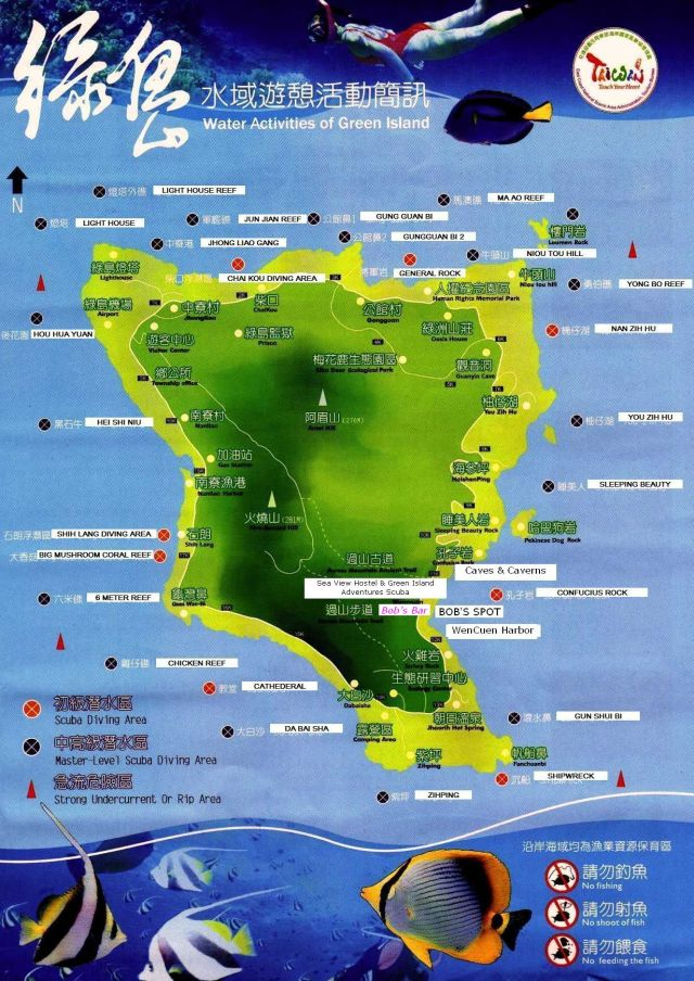 greenisland diving map